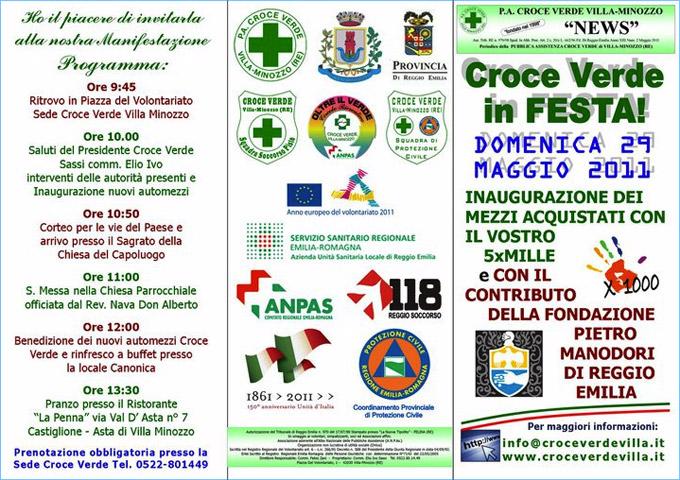 Domenica 29 maggio - Croce Verde Villaminozzo in festa